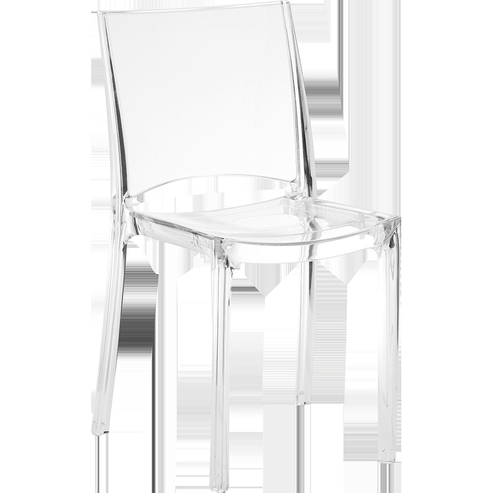 Chaise claire une chaise l gante tout en transparence - Chaise en polycarbonate transparent ...