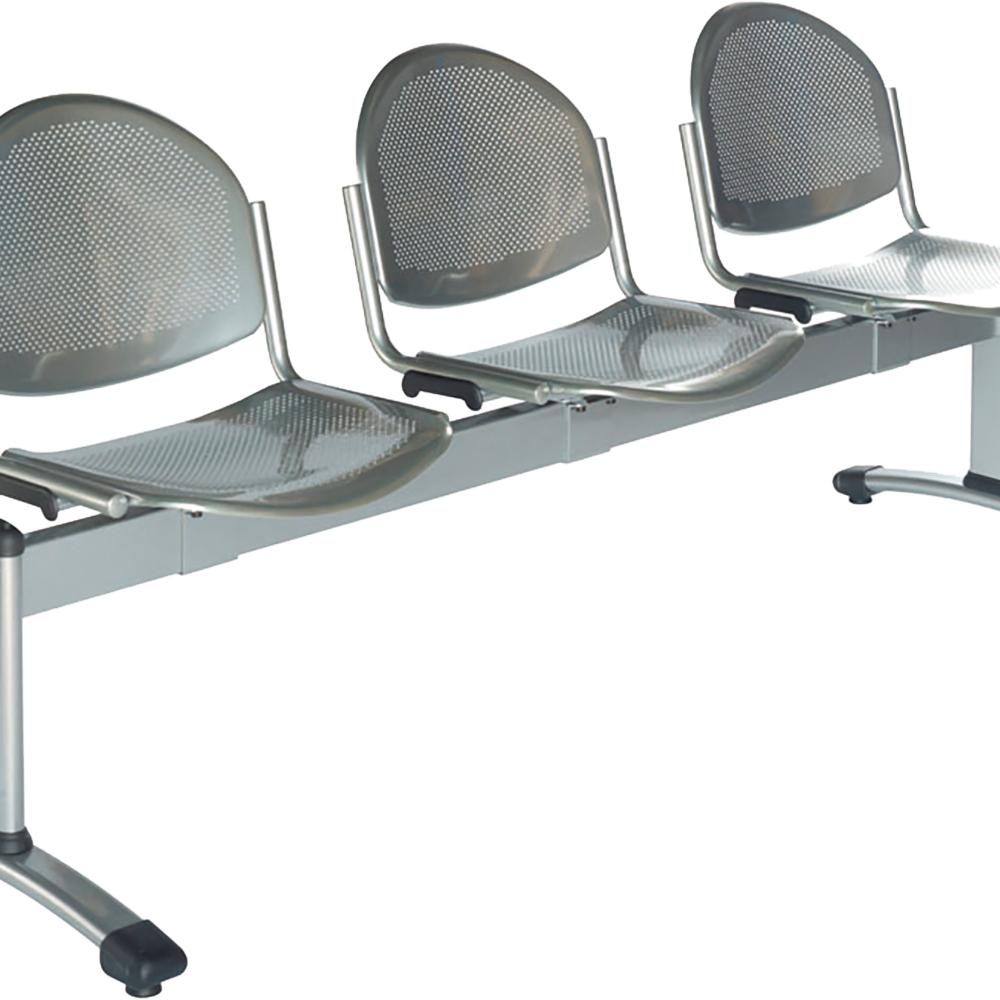 Sitek - 3-seat metal grey bench