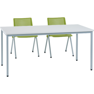 Table poly gris 160×80