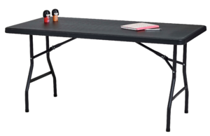 Table Light 153 x 76 cm black