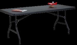 Table light 183 x 77 noir